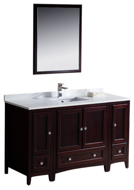 54 Single Sink Bathroom Vanity Transitional Bathroom Vanities