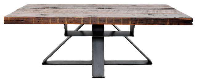 Fantastic Industrial Modern Reclaimed Coffee Table With Hidden Shelf Wood Steel Gamerscity Chair Design For Home Gamerscityorg