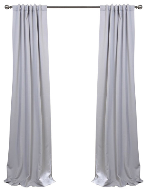 "Fog Gray Blackout Curtain, Set Of 2, 50""x108""."