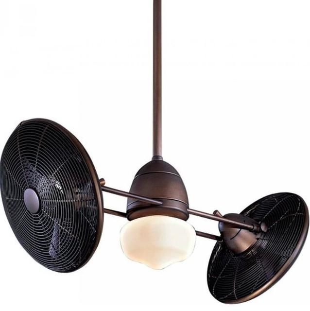 One Light Wet Dual Motor Ceiling Fan