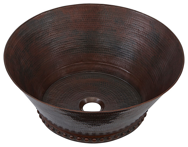 "17"" Handmade Copper Vessel Sink"
