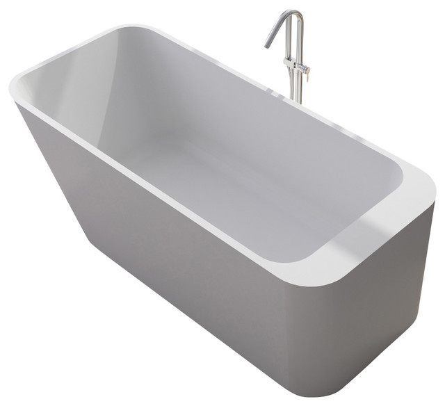 ADM - ADM White Solid Surface Stone Resin Bathtub & Reviews | Houzz