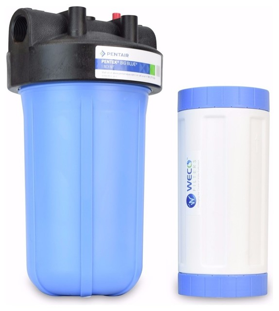 Big Blue Water Filter System For Taste And Odor Treatment.