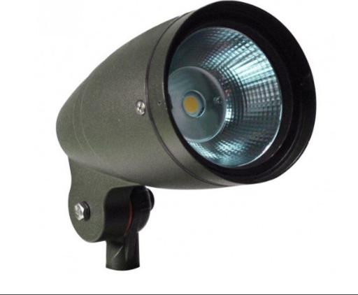 Led bullet flood light 12w 120 277v industrial outdoor for Bullet landscape lights
