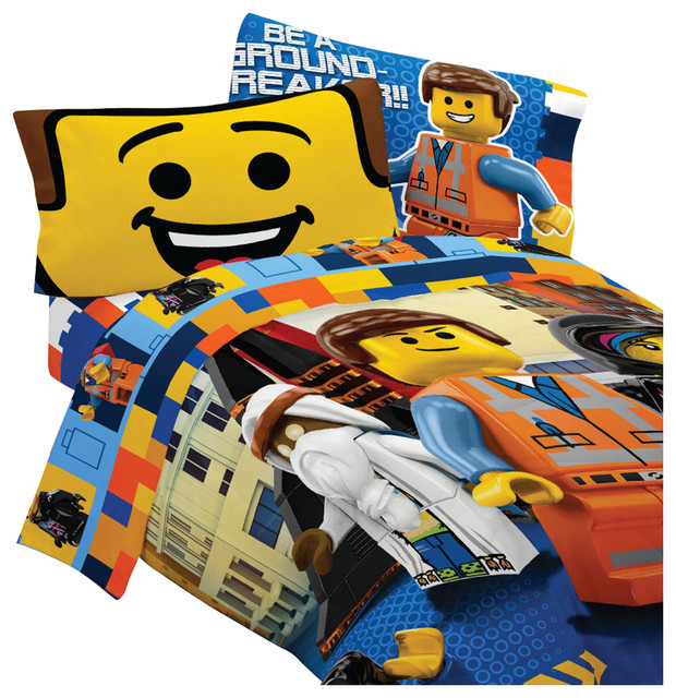 Lego Movie Bedding Set Emmet Wyldstyle Comforter Sheets