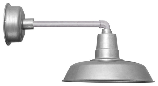 Oldage led barn light with metropolitan arm 14 farmhouse outdoor wall lights and sconces for Metropolitan exteriors inc reviews