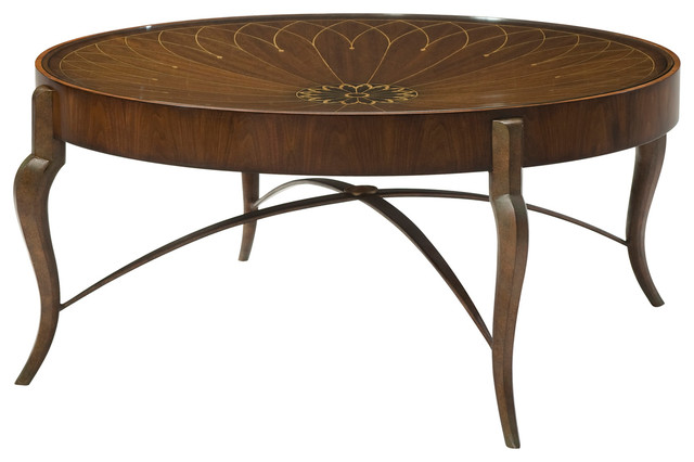 Theodore Alexander Iron And Dish Cocktail Table Transitional Coffee Tables By Benjamin