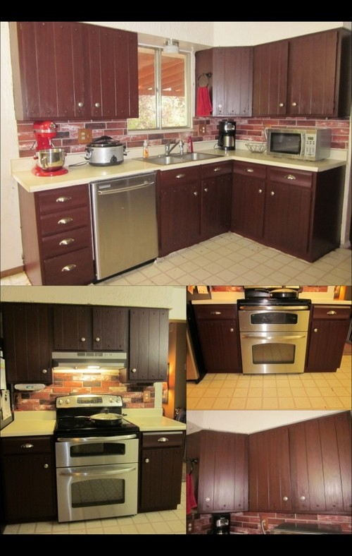 Before And After Using Rustoleum Cabinet Transformations