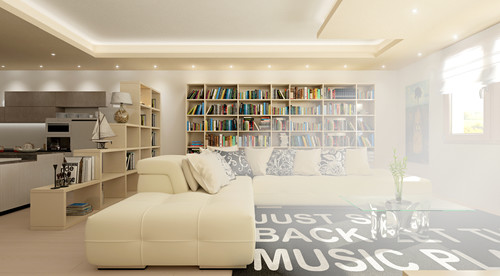 Divisione open space - Libreria dietro divano ...