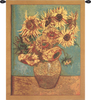 Sunflowers, Gold - Tapestries - by European Wall Art