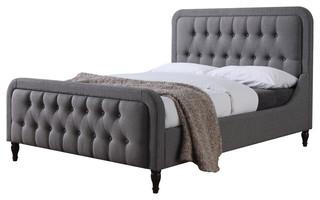 Parisa Bed, Light Gray, Queen