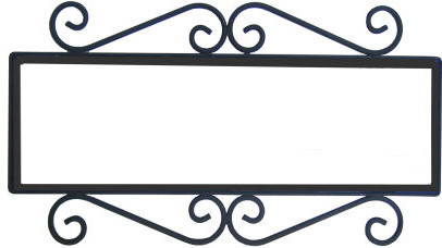 Shop houzz fine crafts imports wrought iron house for House number frames
