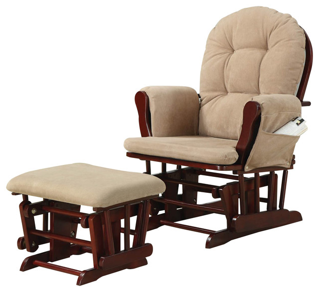 Coaster Glider and Ottoman by Coaster Home Furnishings
