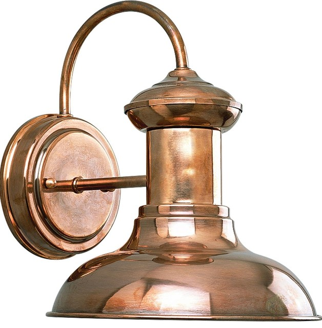 Progress Lighting 1-60w Medium Wall Lantern, Cognac.