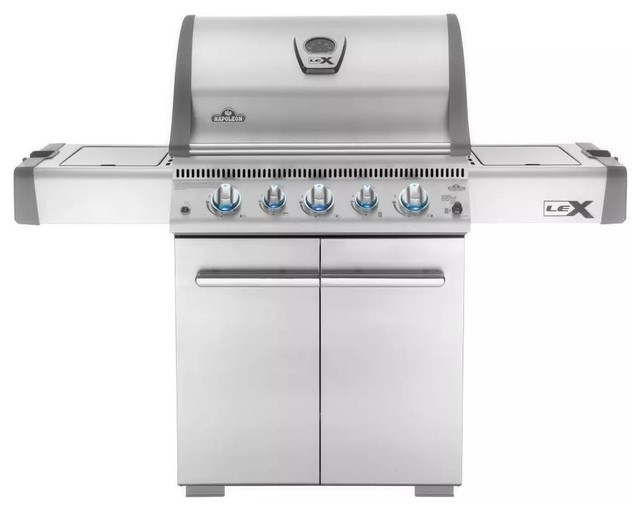 "Napoleon 62"" Freestanding Natural Gas Grill 4 Stainless Steel Burners."