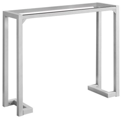Brilliant Monarch Specialties I 2107 42 Inch Wide Glass Top Metal Hall Console Table Machost Co Dining Chair Design Ideas Machostcouk