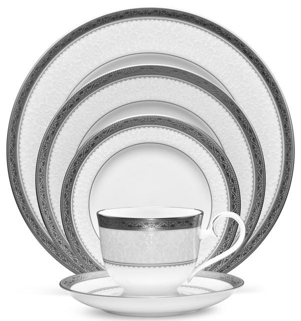 Noritake Odessa Platinum, 60 Piece, China Set, Service For