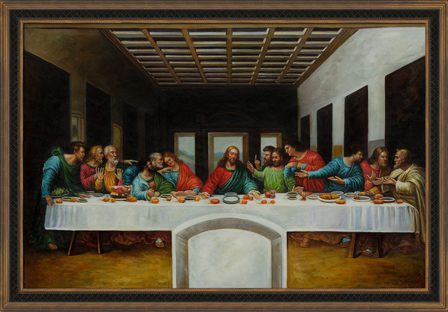 da vinci the last supper modern prints and posters