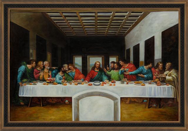 Da Vinci - The Last Supper - Modern - Prints And Posters ... Da Vinci Last Supper High Resolution