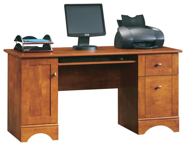 Select Computer Desk, Brushed Maple.