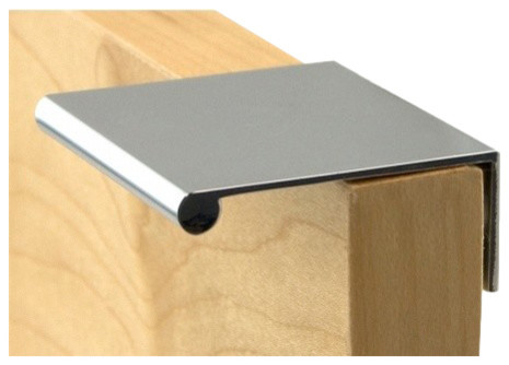 """Berenson Finger Pull 1.77"""" Long Brushed Nickel 1052-4BPN-P - Transitional - Cabinet And Drawer ..."""