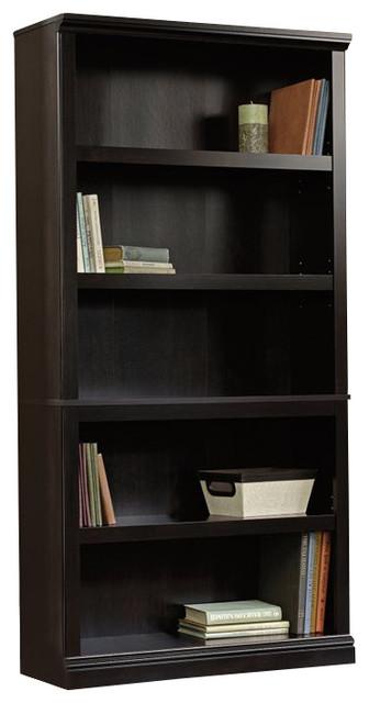 Sauder Select 5 Shelf Bookcase In Estate Black Finish