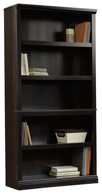 Sauder Select 5 Shelf Bookcase In Estate Black Finish Transitional Bookcases By Homesquare