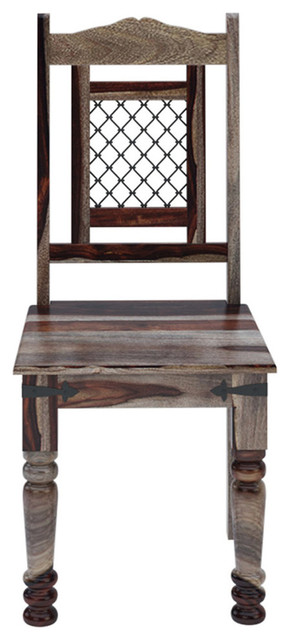 Ethnic Iron Grill Work Dining Chair