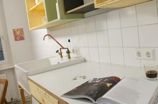 Küche in dreischichtplatte birke multiplex hpl beschichtet und