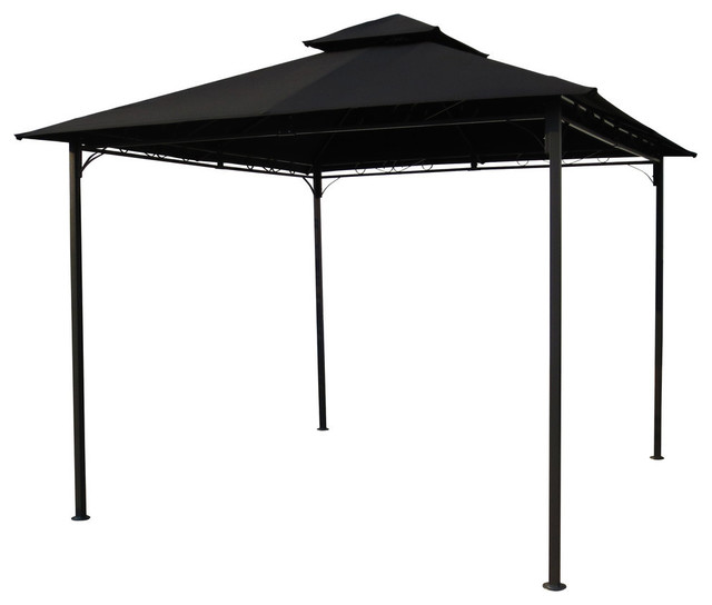 Square Vented Gazebo, Black.