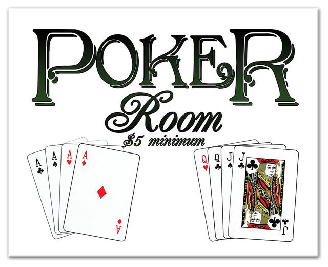 Quot Poker Room Cards Quot Canvas Wall Art 20 Quot X16 Quot Traditional