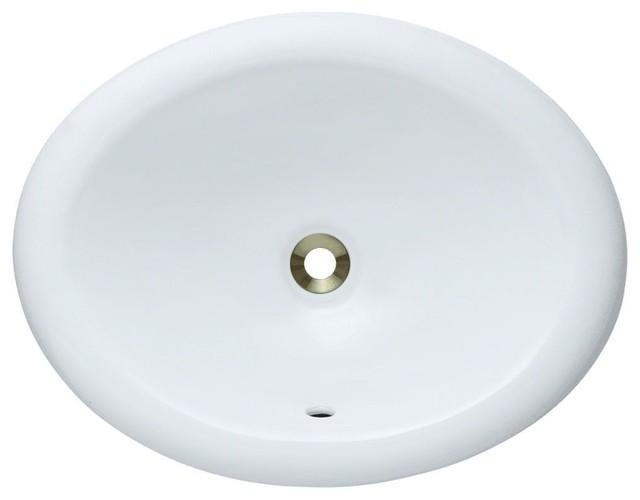 P7191OW Overmount Porcelain Vanity Bowl, White