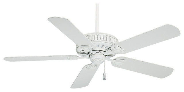 "Casablanca 54"" Ainsworth Cottage White Ceiling Fan."