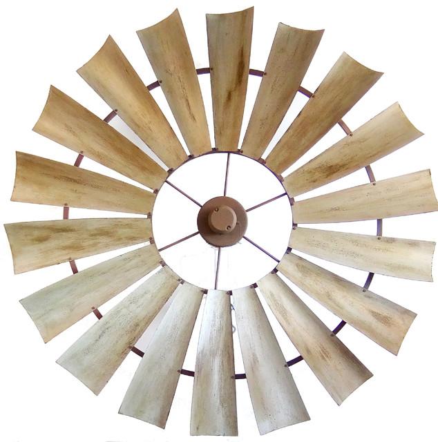 Unique windmill ceiling fan 66 weathered rust - Windmill ceiling fan for sale ...
