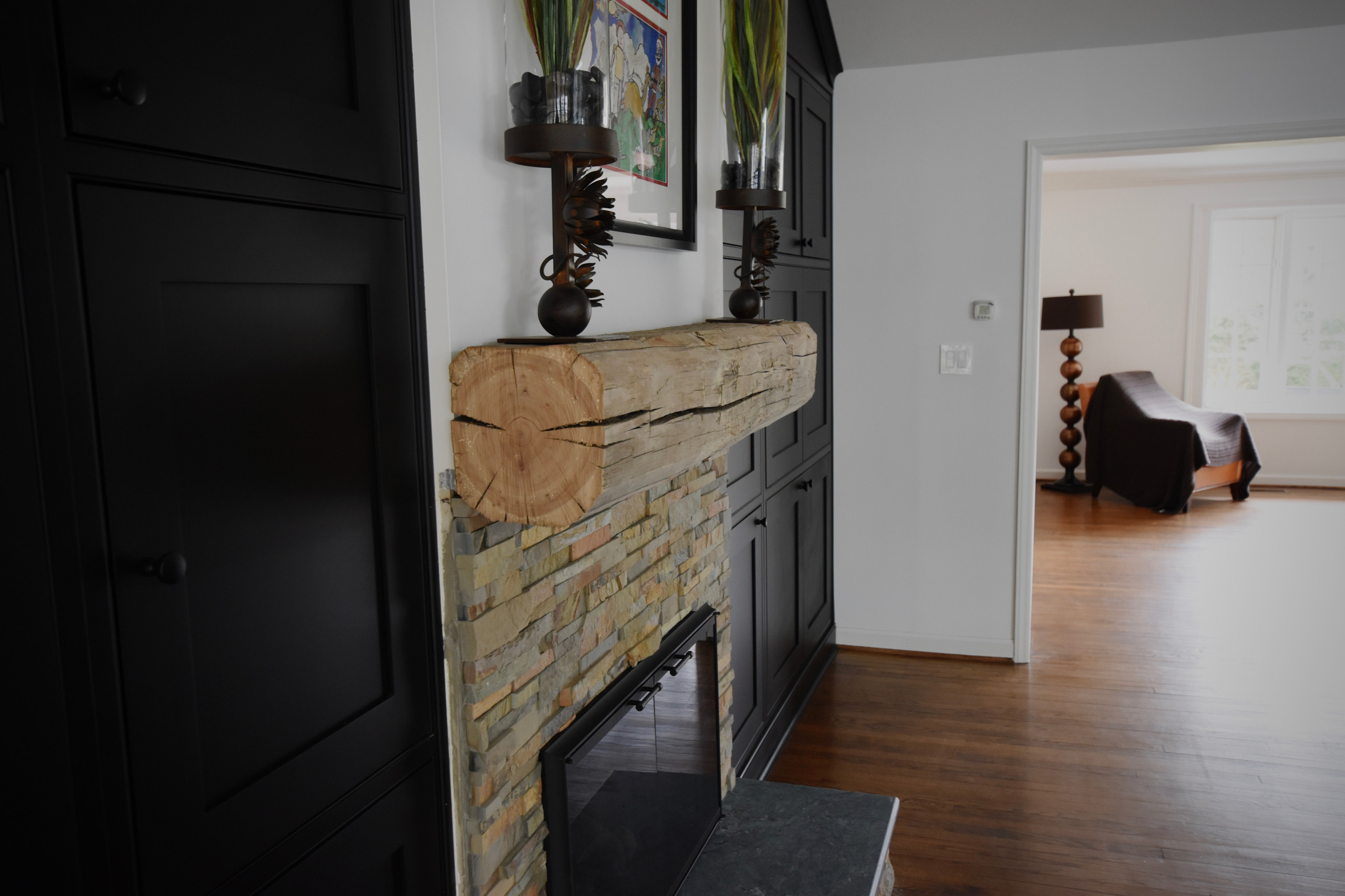 New Kitchen, Rock Fireplaces, Lighting, Master Bathroom & Cabinetry