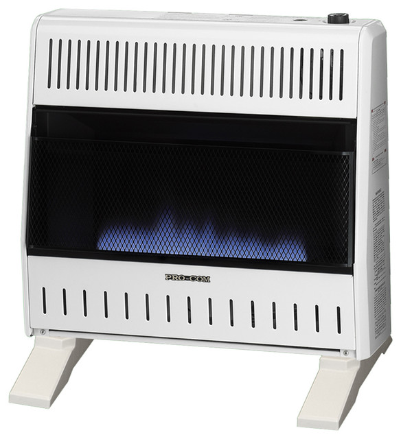 Dual Fuel Blue Flame Ventless Wall Heater, 30,000 Btu.