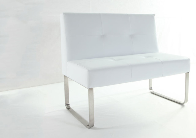 Delicieux Genoa Polar White Dining Bench With Backrest