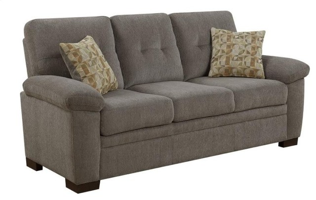 Coaster Fabric Sofa Oatmeal Transitional Sofas by GwG Outlet