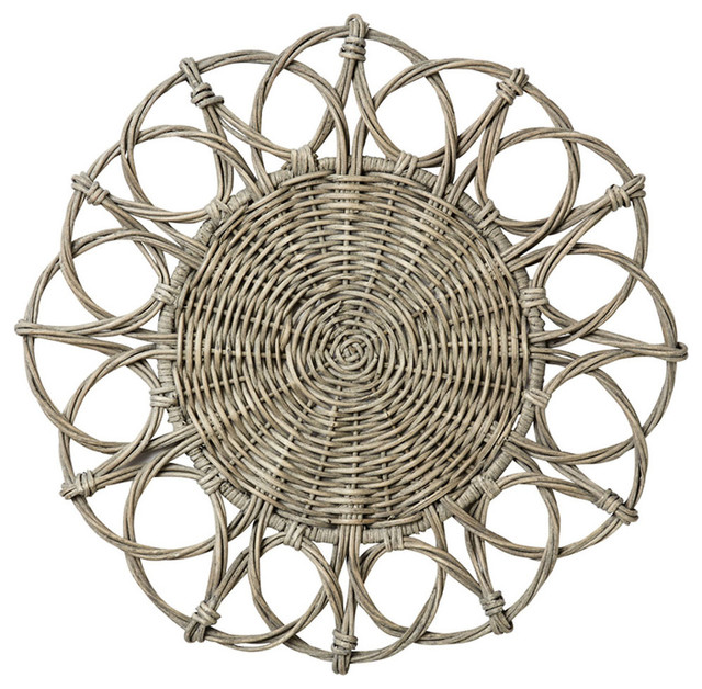 Shop Houzz Bliss Home Amp Design Gray Wicker Charger