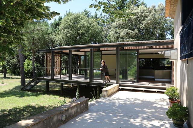 Extension contemporaine dune maison traditionnelle contemporain