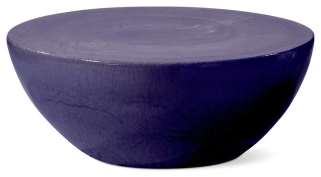 Bowness Coffee Table, Navy Blue Contemporary Outdoor Coffee Tables