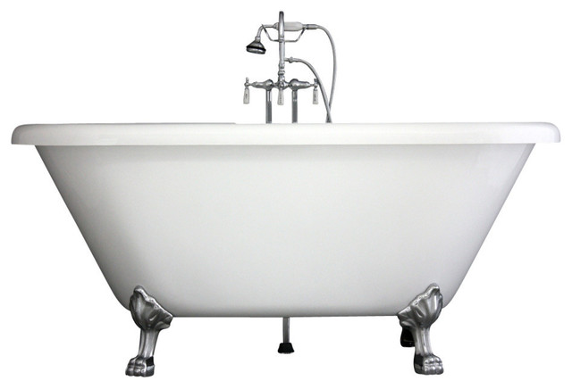 Hotel Collection Double Ended Clawfoot Bathtub/Faucet Package ...
