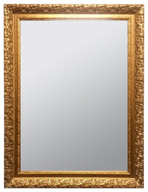 Raphael rozen classic framed antique style wall mirror for Victorian mirror