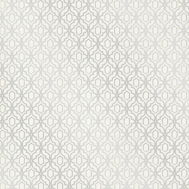 Silver Trellis Wallpaper: Alcazaba Silver Trellis Wallpaper