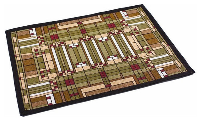 Rennie rose frank lloyd wright oak park skylight tapestry placemat placemats houzz - Frank lloyd wright rugs ...