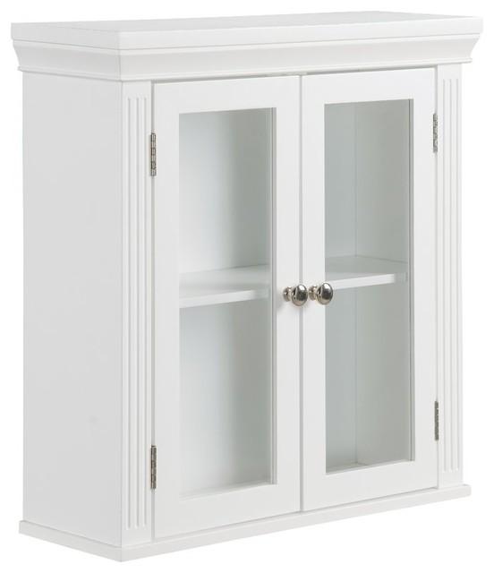 Double Doors Wall Mounted Bathroom Storage Cabinet.