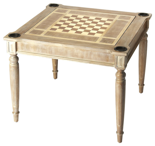 Butler Transitional Multi Game Card Table, Driftwood Traditional Game Tables