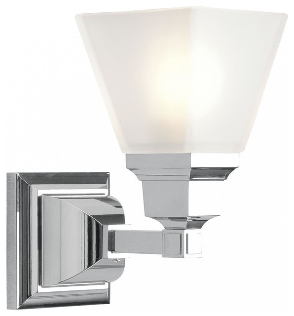 chrome bathroom sconce - transitional - bathroom vanity lighting