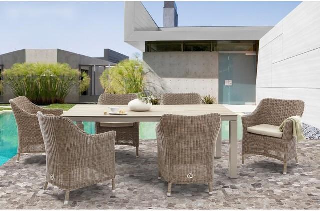Domus Ventures Bonassola Patio Dining Set - Seats 6 Multicolor - 723HN - Domus Ventures Bonassola Patio Dining Set - Seats 6 Multicolor