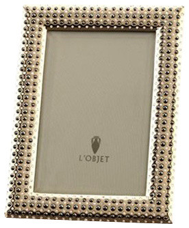 lobjet perlee gold frame 8x10 contemporary picture frames